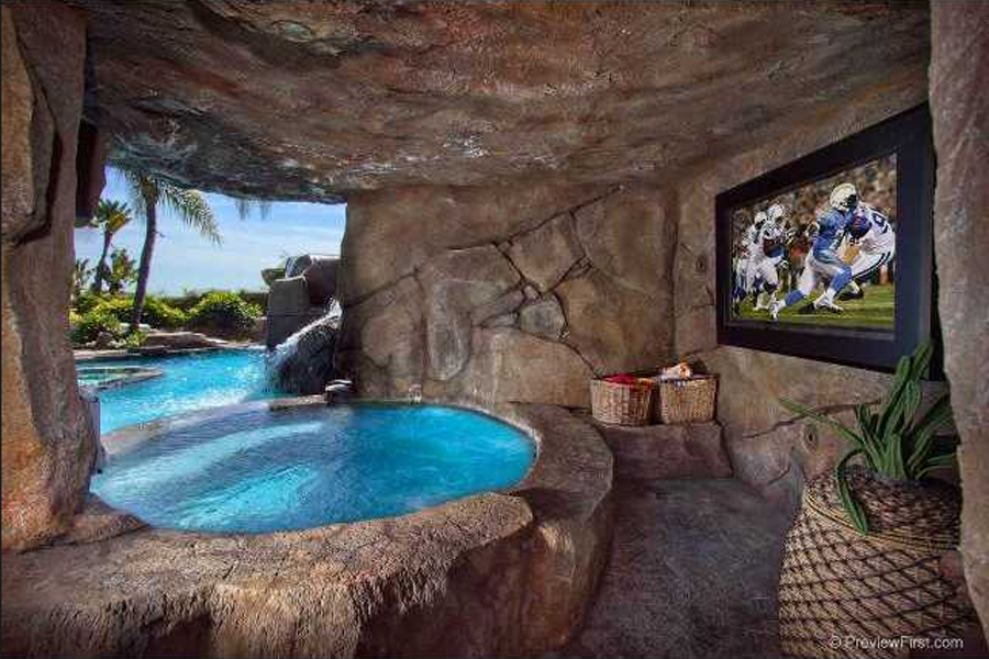Backyard Man Cave Plans : hockey cave hot tub cave