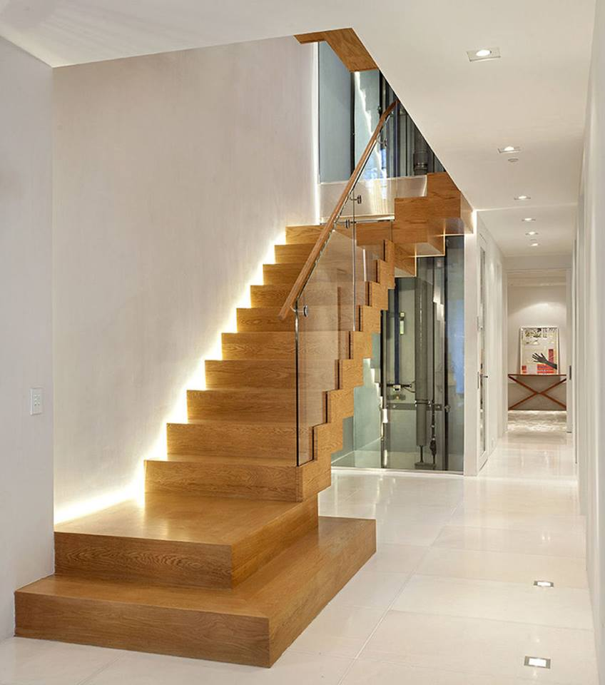 10 elegant staircase designs for the interior or exterior for Stair designs interior