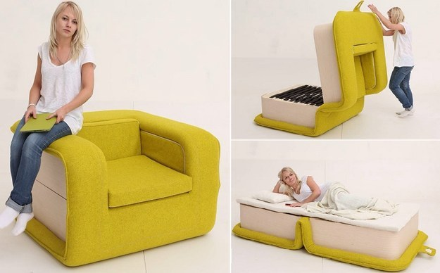 Chair Bed. Or Getting The Most Out Of Empty Space: