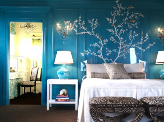 blue-and-white-bedroom-with-white-tree-mural